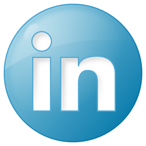 social linkedin button blue - Performance Marketing